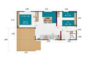 Mobil-home Alizé - Plan