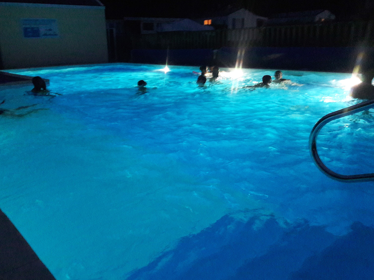 Pool open late once a week in summer